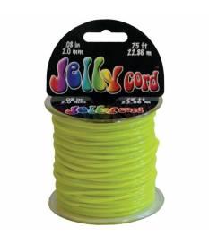 Cordoncino di plastica Jelly Cord colore giallo 22 mt