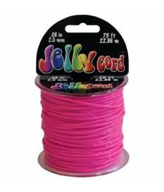 Cordoncino di plastica Jelly Cord colore rosa 22 mt