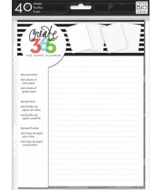 Create 365 Note & Graph Paper 40/Pkg White