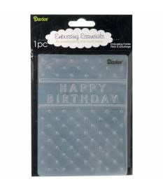 Embossing Folder Darice, Happy Birthday