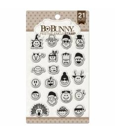 Essential Stamps by BoBunny, Festive Emoji
