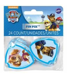 Foto decorative per dolci con supporto, Pew Patrol, 24 pz
