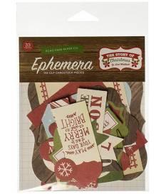 Fustella The Story Of Christmas, Ephemera Cardstock