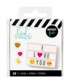 Inserti per Lightbox Heidi Swapp, Emoji Icons