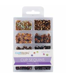 Lustrini Cup Sequins, Box of Chocolate