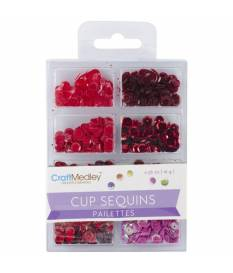 Lustrini Cup Sequins, Rouge