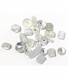 Perle di vetro cristallo di rocca per bigiotteria 6-18mm