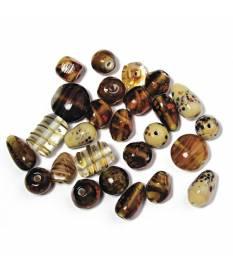 Perle di vetro per bigiotteria topazio 6-18 mm