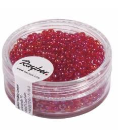 Perline in vetro rosso trasparente da 2,6 mm