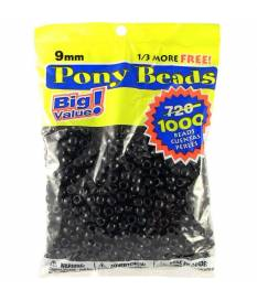 Perline Pony Beads, Opaque Black