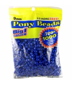 Perline Pony Beads, Opaque Blue