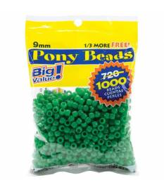 Perline Pony Beads, Opaque Green