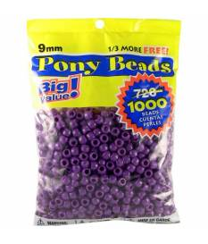 Perline Pony Beads, Opaque Purple
