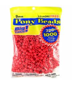 Perline Pony Beads, Opaque Red