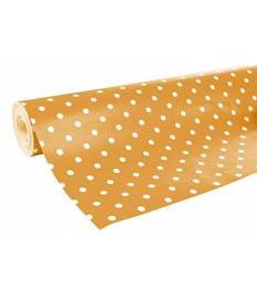Rotolo pois arancione Fashion 80g, 50x0,70 m Clairefontaine