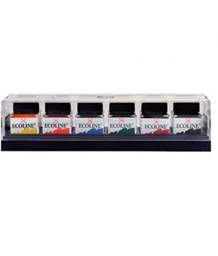 Set di 6 concentrati di inchiostro ad acquerello 30 ml Ecoline