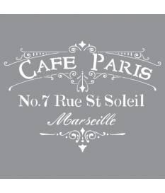 Stencil Americana Decor, Cafè Paris