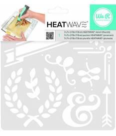 Stencil Heatwave Flourish, 19x19 cm