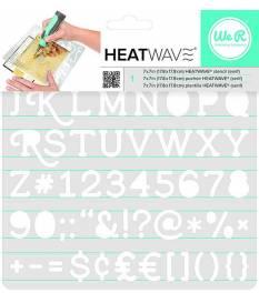 Stencil Heatwave Serif, 19x19 cm