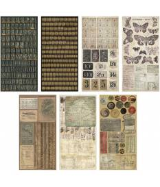 Stickers Crowded Attic by Tim Holtz, 7 fogli da 15x33 cm