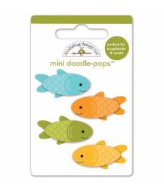 Stickers Happy Camper Mini Fishies 3D, Doodlebug Doodle-Pops 7x9 cm
