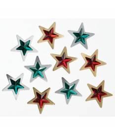 Stickers Jolee\'s Boutique, mini stelle di natale