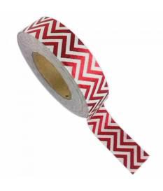 Nastro Wahi Tape I love my tape, Zig Zag Rosso
